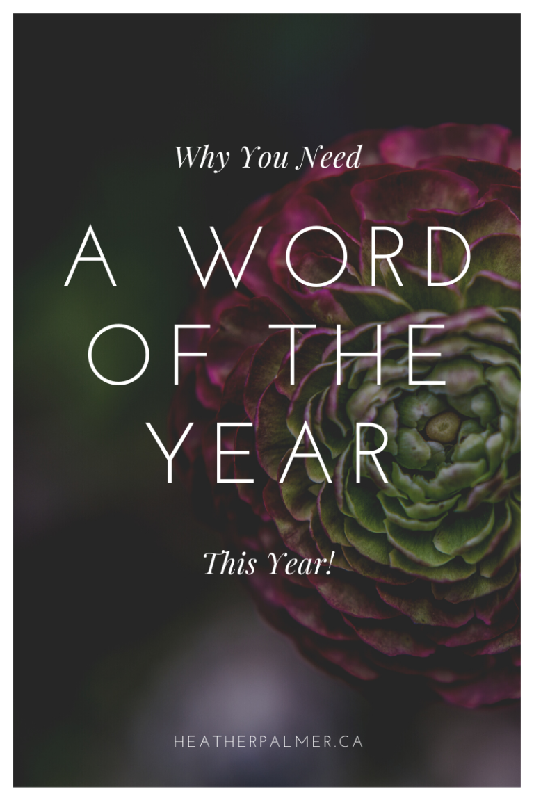 Why you Need a Word of the Year this Year